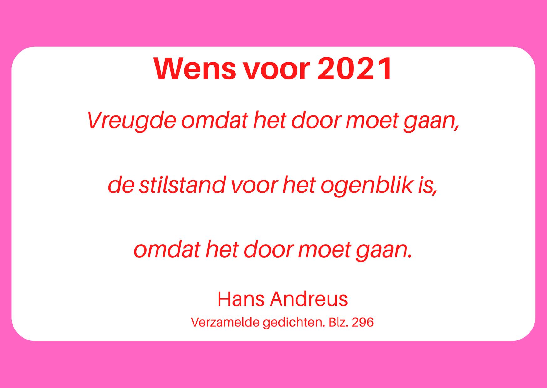 Wens voor 2021 rood wit